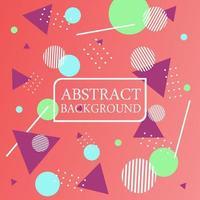 diseño abstracto de triángulo y círculo vector