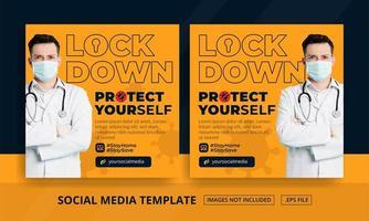 Orange Lock Down Themed Social Media Posts