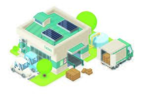 Small electronic factory vector