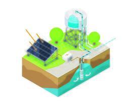 Water pump isometric vector