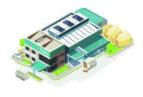 Electronic green factory vector