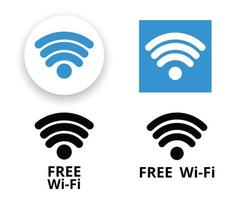 Wifi symbol set vector
