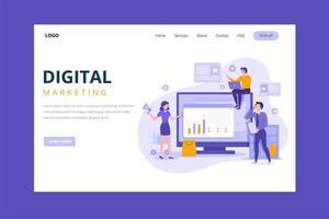 Purple Digital Marketing Landing Page