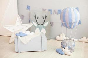 Modern vintage children's room interior
