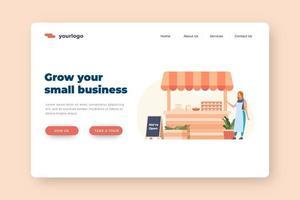 aumente sua página de destino para pequenas empresas com estol
