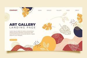 página de inicio de la galería de arte vector