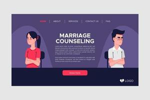 Purple marriage counseling landing page