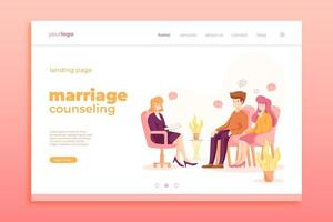 Pink toned marriage counseling landing page