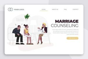 Marriage counseling session landing page vector