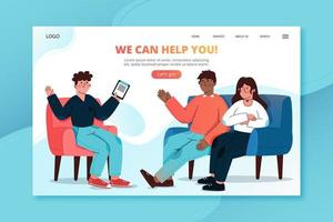 We can help you landing page vector