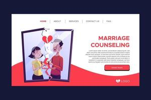Broke photo marriage counseling landing page template