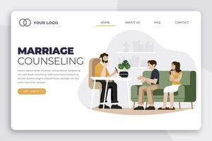 Marriage counseling appointment landing page template