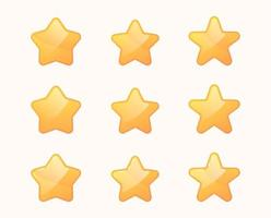 Golden star icons vector