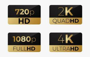 conjunto de iconos de etiqueta hd vector
