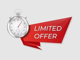 Stopwatch limited offer sign
