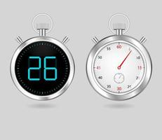 Digital and analog timers  vector