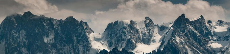 Panorama of the Grandes Jorasses mountain