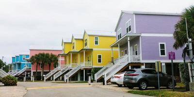 Colorful Florida houses photo
