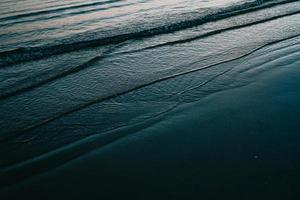 Ocean waves on shore