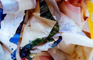 Masking tape scraps