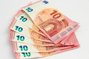 Set of six 10 Euro banknotes