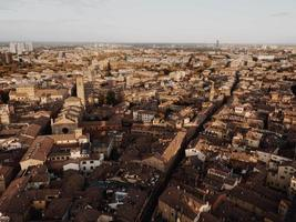Bird's eye view of Italian city