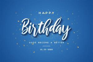 Fondo de celebración de cumpleaños azul '' feliz cumpleaños ''