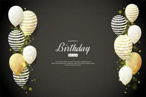 Background Celebration with 3D balloons vector