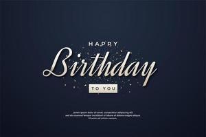 Fondo elegante cumpleaños con escritura blanca