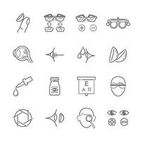 Line Icons for Medical Optic vector
