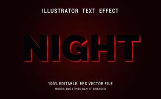 Night Text Effect vector