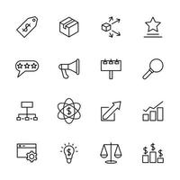 Line Icon Set Related to Marketing Activity vector