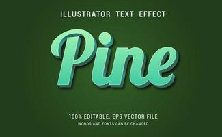efeito de texto verde pinho vetor