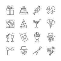 Icon Design for Birthday Party vector