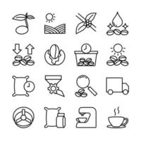 Related Icons for Coffee Producing vector