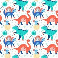 padrão de dinossauro fofo