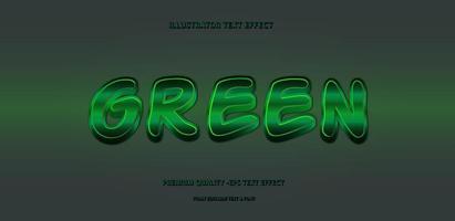 Glowing Metallic Green Text Style vector