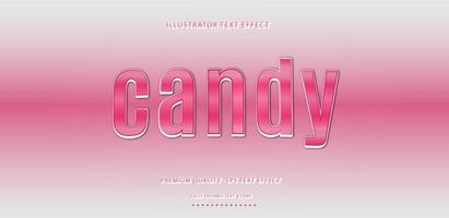 Gradient Pink Candy Text Style vector