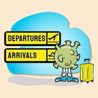 virus corona in viaggio