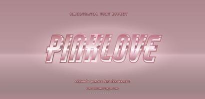 estilo de texto retro rosa brillante vector
