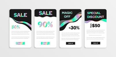 Black and iridescent flyer set