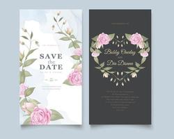 Heart rose wedding save the date
