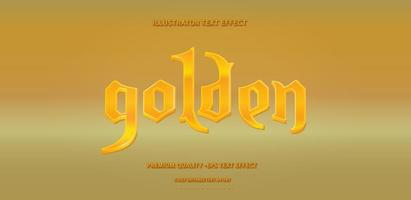 estilo de texto retro dorado brillante vector