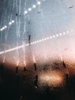 Moisture on glass