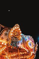 Carousel lights at night