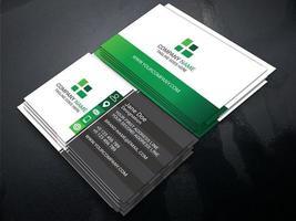 Green Gradient Color Unique Business Card Template