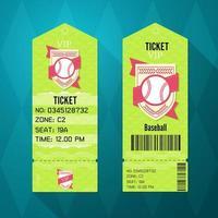 Baseball Ticket Design vektor