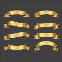 paquete moderno de cintas doradas