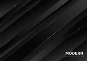 Black abstract 3d diagonal line design vector