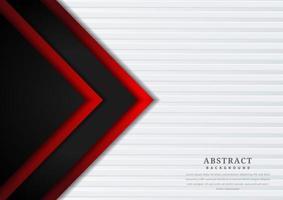 diseño de superposición geométrica triángulo rojo y negro vector